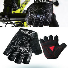 Cool Spider Cycling Bike Bicycle GEL Shockproof Sports Half Finger Glove M-2XL