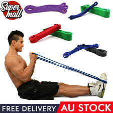 POWER Heavy Duty RESISTANCE BAND Home GYM Fitness Workout Yoga Strength Exercise