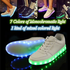 New Men Women Glow USB Charger LED Light Sneaker Dancer Club 7 Colors in 1 Shoes