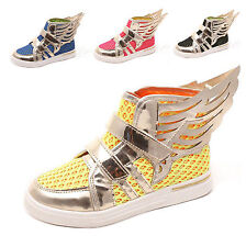 Fashion Kid's Unisex Wings Mesh Sneakers Shoes Boots Sandal Flat Loafer Athletic