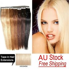 Brazilian Remy PU Hair Tape In Skin Weft 100% Human Hair Extensions Light Blonde