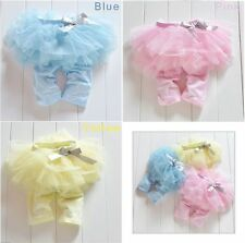 Baby Toddler Girl Skirt Culottes TUTU Leggings Gauze Bow Short Pants Outfits