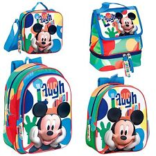 Mickey Mouse Blue Backpack Official Rucksack Disney Clubhouse Lunch Bag School