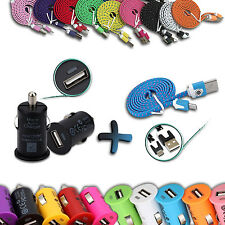 2IN1 Mini USB Car Charger Adapter + Micro USB Charger Cable For Mobile Phone