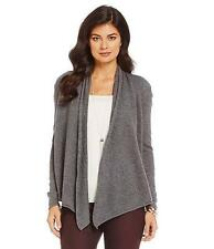 NWT Alex Marie Cashmere Collection LILLY Open Front Drape Cardigan