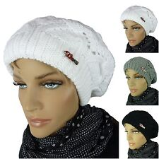 LADIES WINTER HAT KNITTED POM-POM HAT KNITTED LADIES HAT BEANIE ta1109