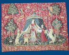 "A MON SEUL DESIRE Cluny Museum Woven Fabric Tapestry Wall Hanging NEW! 25"" x 34"""