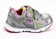 New Skechers Kids youth Girls Sport Trainers Shoes Silver/Pink 711319 SLPK
