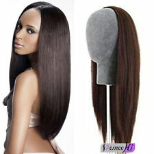 "22""-30"" 220g-300g 3/4 Half Wig silky straight 100% remy human hair Easy to Wear"
