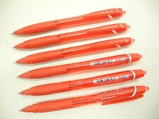 6Pcs Uni-Ball JetStream SXN-150C Retractable 0.7mm Ball Point Pen, RED