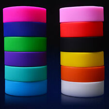 Hot Wide Sports Silicone Bracelets Rubber Wristbands Colorful