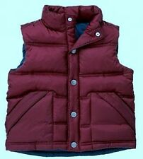Gymboree Rock n & Roll 101 Maroon Puffer Vest Outerwear Lined WInter Xmall S 3-4