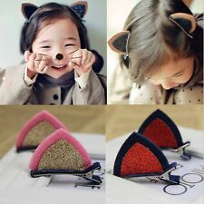 Cute Kids Lovely Cat Ears Hairpins Hair Clips Hair Accessories Barrettes 2PCS
