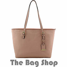 MK Design Pink Womens Large Shopping Shopper Shoulder Bag Handbag
