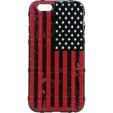 Magpul Field Case for iPhone SE,4,5,5s. Custom Black-Red Subdued USA Flag