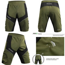 Men's Loose Mountain MTB Bike Bicycle Cycling Baggy Shorts Padded Pants 5 SIZES
