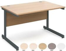Contract 25 Straight Office Desk   1200mm   Walnut, White, Beech, Maple and Oak