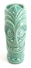 "NEW Disney Polynesian Village Resort Green Glass Cup Mug Tiki Dude 9"" tall"