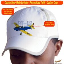 Fairchild PT-19 Cap Custom Airplane Pilot Hat - Personalized with Your N#
