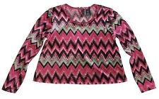 New! Miss Understood Chevron Print Velvet Crop Top Big Girls Youth L-XL