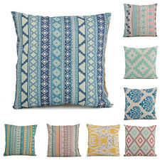 Bohemia Geometric Flower Cotton Linen Throw Pillow Case Cushion Cover Home Decor