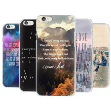New Quirky Quotes & Sayings Famous Motivational Retro Hard Case Cover for iPhone