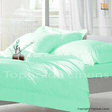 1000TC 100% EGYPTIAN COTTON AQUA BLUE STRIPE AMERICAN BEDDING SHEETS COLLECTION