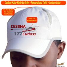 Cessna 172 Cutlass RG Cap Custom Airplane Pilot Hat - Personalized with Your N#