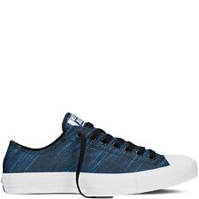 Converse Chuck Taylor All Star II Low Knit Spray Paint Blue 100% New 151091C A+