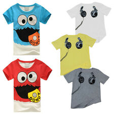 Kids Boys Tops Crerw Neck T Shirt Short Sleeve Sport Tee Toddler Print Baby GN