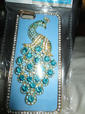Luxury Bling Diamond Peacock Leather Crystal Case Cover For Apple iPhone 5 5G