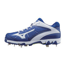 Mizuno 9-Spike Swift 4 Womens Metal Softball Cleats  Royal-White