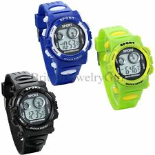 LED Digital Electronic Multifunction Child Kids Boy's Girl's Sport Wrist Watch