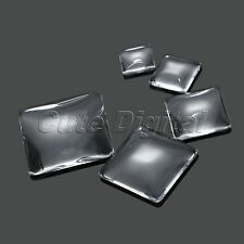 Clear Square Dome Glass Flat Back Cabochon Crystal Magnify Base Cover 12mm-30mm