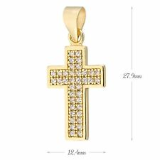 Sterling silver Pave Cubic Zirconia (CZ) Cross Necklace Pendant