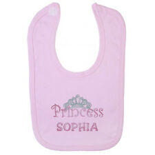 PERSONALISED PRINCESS BABY BIB - Embroidered Gift Idea / New Born / Christening