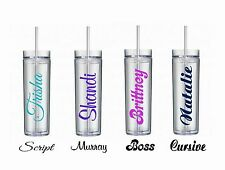 Personalized Tumblers Wedding Birthday Christmas Family Gifts Teacher Grads