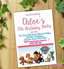 PAW PATROL Personalised Birthday Party Invitations or Thank You Cards +Envelopes