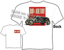 Bonneville Hot Rod T Shirt 32 Ford Roadster Tee 1932 Vintage Racing Clothing