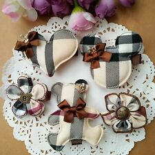 10pcs British style Flower/Mickey Kids Hair Accessories Baby Girl Hair Clip Rope
