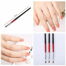 Wholesale UV Gel Acrylic Nail Tips 3pcs Nail Art Builder Brush Pen Drawing