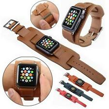 Apple Watch 38mm/42mm Genuine Leather Watch Band Strap Replacement Watchband **