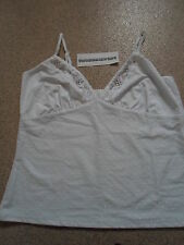 Avon Pretty Everday White Vest Size 10/12 Brand New In Bag.