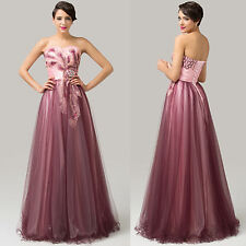 Womens Stain Long Prom Dresses Party Evening Bridesmaid Cocktail Ballkleid Gown
