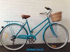 SAMSON CYCLES 7SPEED SPARKLE BLUE VINTAGE LADIES BIKE $249.00 WITH FREE PUMP