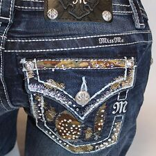 Miss Me Call of Beauty Camo Boot Cut Lowrise Stretch Jeans JP8487B NEW!