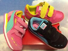 Puma Girls Cabana Racer V Retro Sneaker Toddler Size 10 to Youth Size 3.5