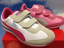 Puma Girls Whirlwind V Closure Retro Sneaker Toddler Size 7 to Youth Size 3