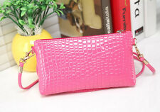 Women High-end Crocodile Leather Messenger Crossbody Clutch Shoulder Handbag