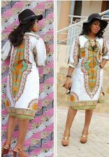 African Women Clothing Newest White Dashiki, Delivery In About 12 Days